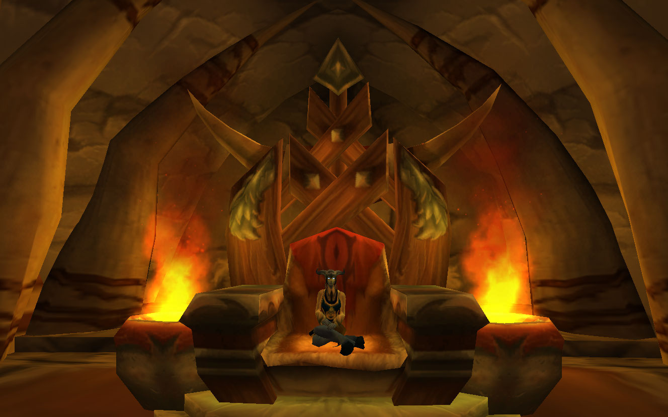 Just trying Thrall's throne out for size.